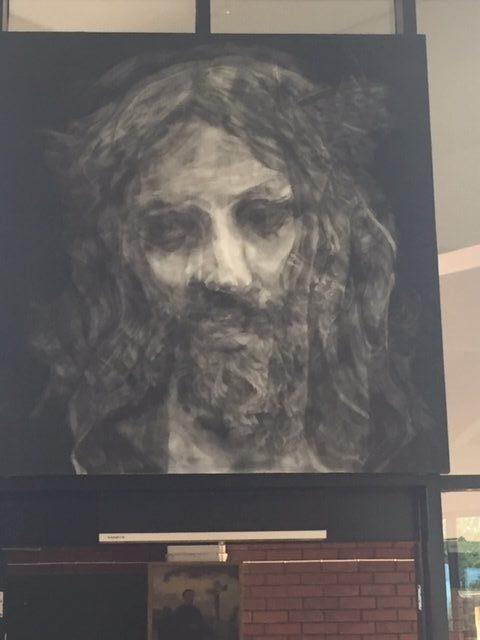 Artwork in Church portrait of Christ