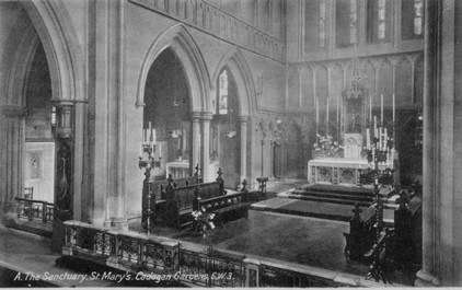 St Mary's Sanctuary PostCard ex Edward
