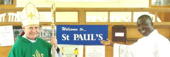 Bishop McAleenan visits St. Pauls