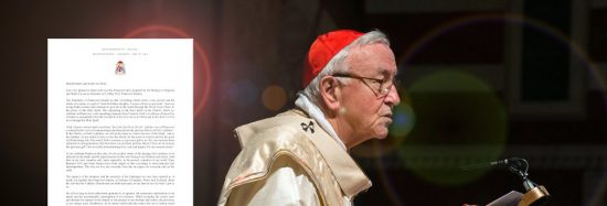 Image of Cardinal Nichols address during Pentecost