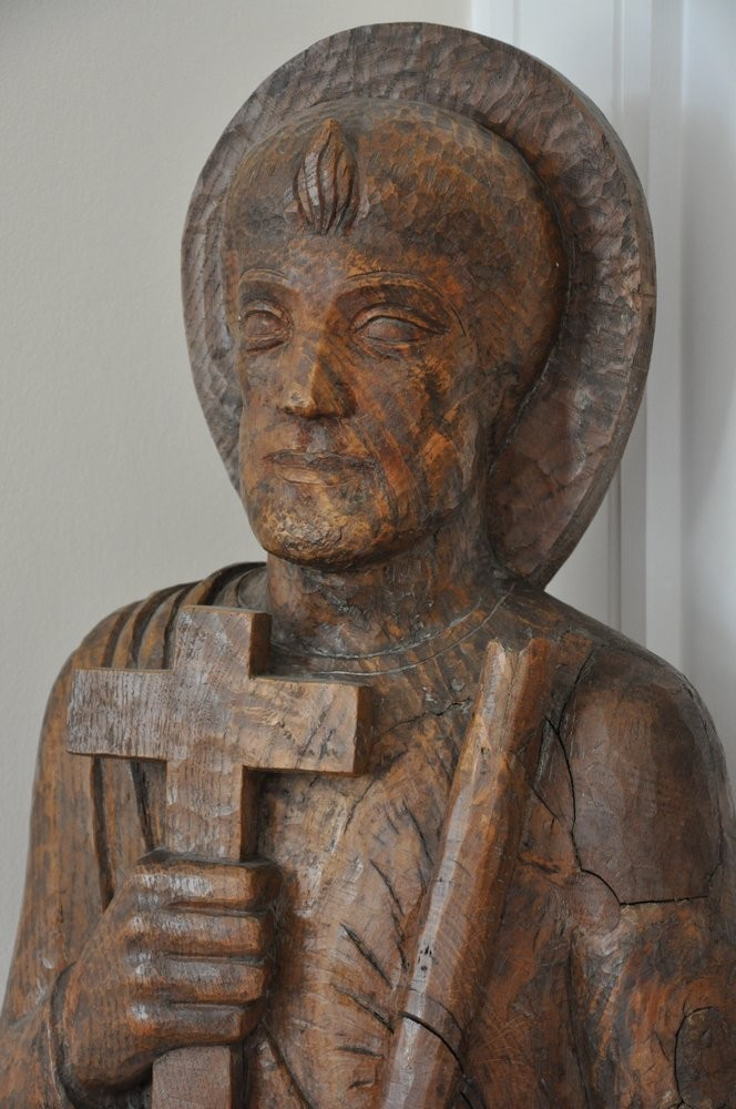 A statue of St. Jude at the Carmelite friary in East Finchley