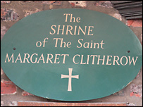 The Shrine to Margaret in The Shambles