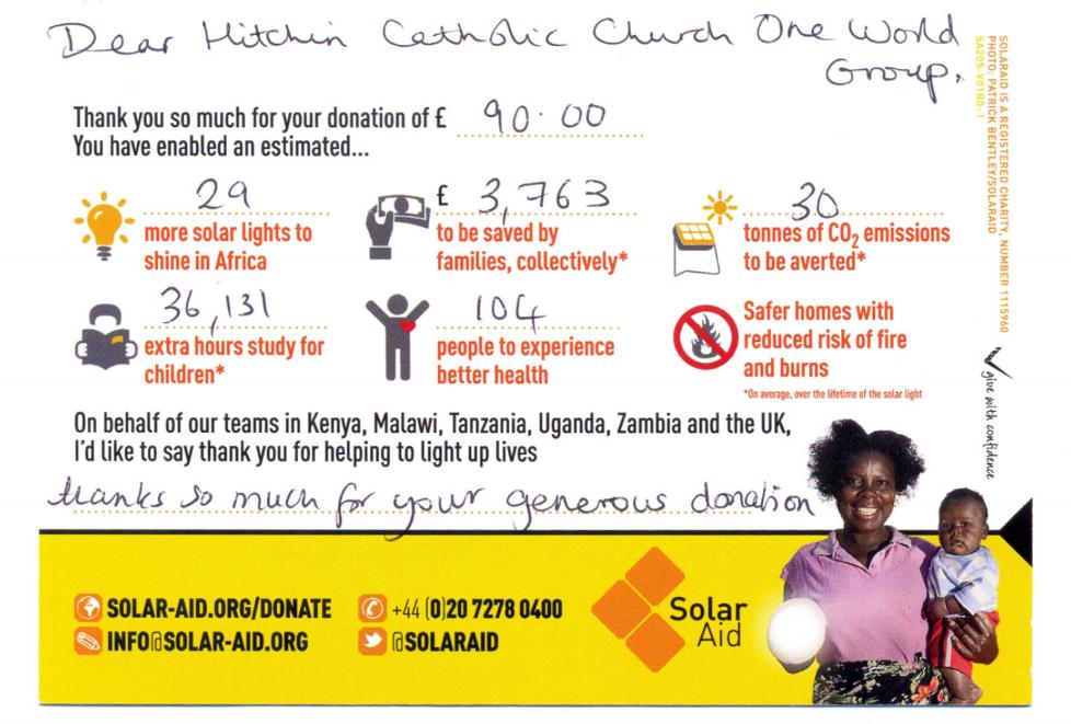 OneWorldGroup-SolarAidThankYou