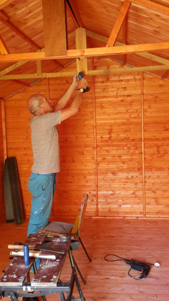John preparing shed 1