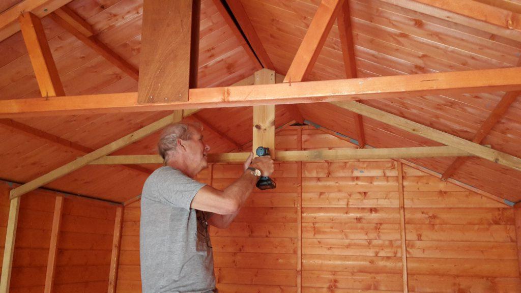 John preparing shed 2