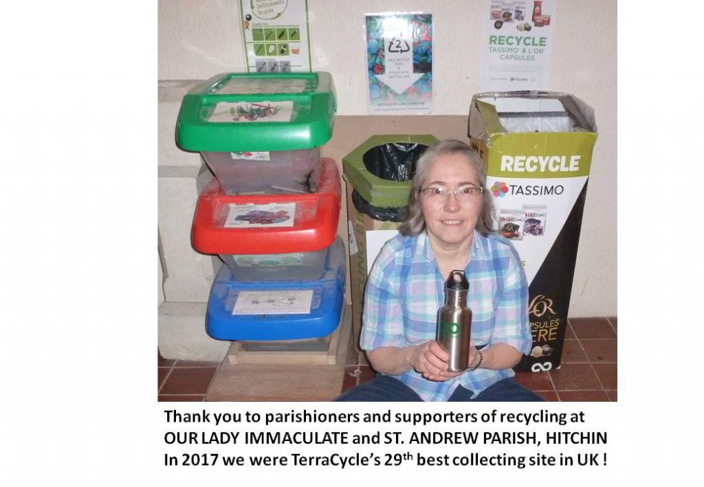 Recycling in the parish | Our Lady Immaculate & St Andrew