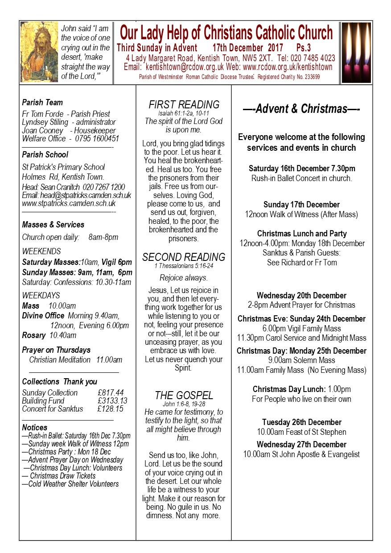 Newsletter 17th December 2017 Page 1 | Roman Catholic Church