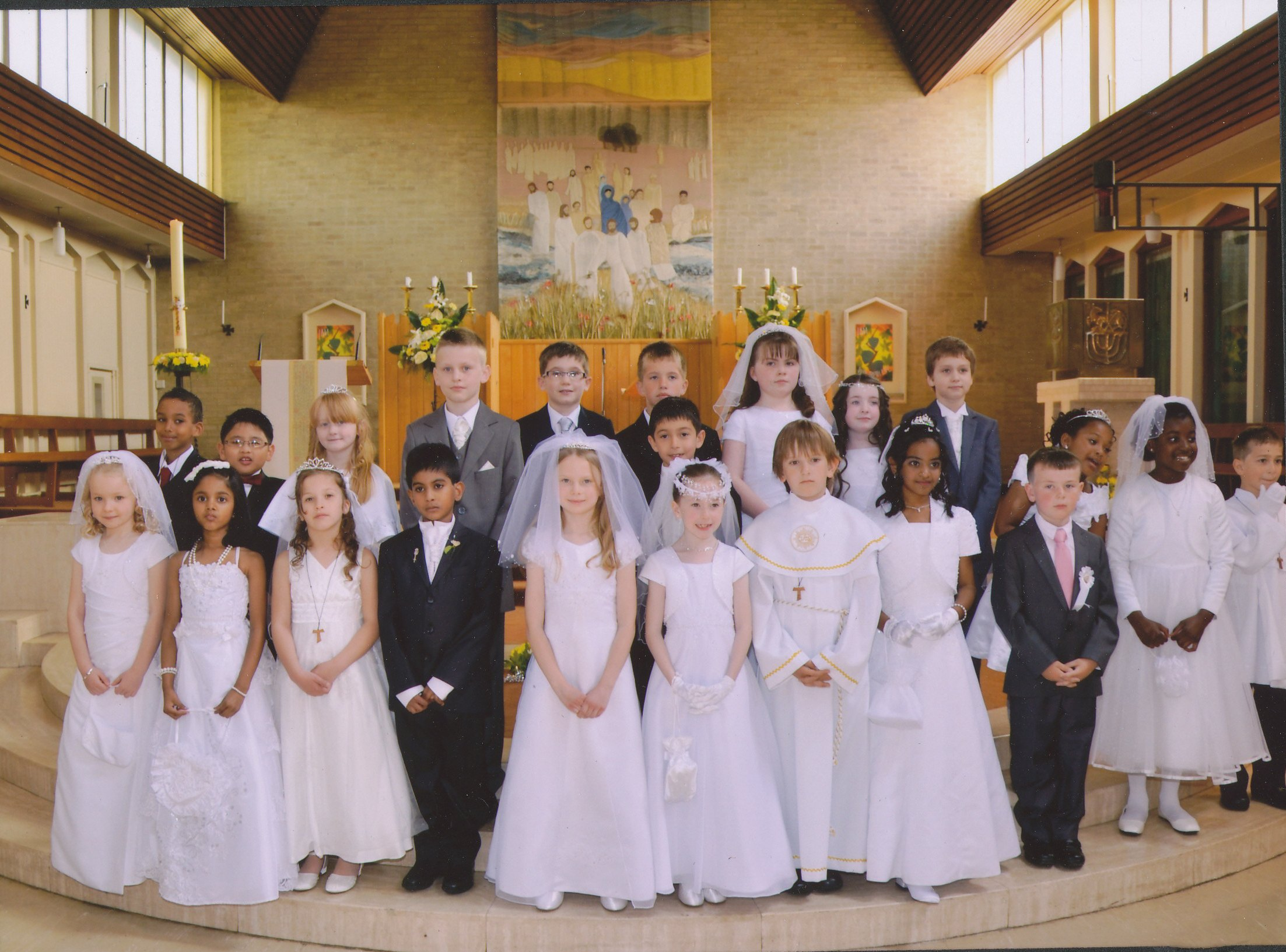 Old first holy communion for adults
