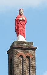 "The statue on the church is known as the ""steering Christ"" as it acted as a navigation aid to sailors coming into the docks."