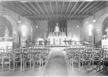 Although this photograph shows the interior of the church as it was in 1914, little had changed before 1984.