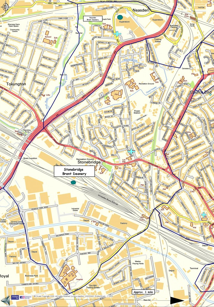Our parish boundary map