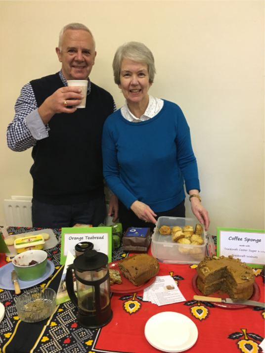 The Traidcraft coffee morning was a great success