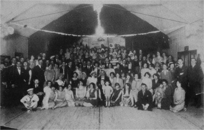 Fancy Dress occasion in the Tin Hall around 1925